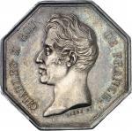 GUADELOUPE Charles X (1824-1830). Jeton de la Banque de la Guadeloupe par Barre 1826, Paris.