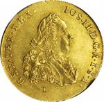 TRANSYLVANIA. 2 Ducats, 1773/2-E H-G. Karlsburg Mint. Joseph II, joint reign with his mother Maria T