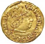 Italian coins;NAPOLI Ferdinando I d'Aragona (1458-1494) Ducato sigla T - MIR 64/8 AU (g 3.50) R Poss