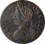 1787 Connecticut Copper. Miller 16.4-n, W-3020. Rarity-6+. Drape Bust Left, AUCIORI. Extremely Fine,