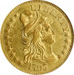 1797/5带帽半身像半鹰金币 NGC MS 61