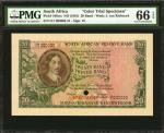 SOUTH AFRICA. South African Reserve Bank. 20 Rand, ND (1961). P-108cts. Color Trial Specimen. PMG Ge