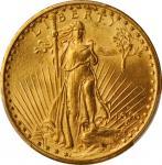 1916-S年20元圣高登飞鹰金币。 旧金山造币厂。UNITED STATES OF AMERICA. Saint-Gaudens Double Eagle, 1916-S. San Francisc