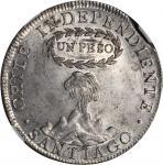 CHILE. Peso, 1817-SoFD. NGC MS-62.