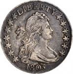 1805 Draped Bust Half Dollar. O-112, T-2. Rarity-2. EF-40 (ANACS).