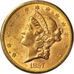 1857-S Liberty Head Double Eagle. MS-62 (PCGS). CAC.