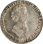 RUSSIA. Ruble, ND (1704). Peter I (The Great) (1689-1725). PCGS EF-40.