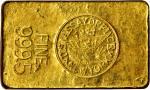 1943 New York Assay Office Gold Ingot. 35 mm x 58.5 mm x 10.5 mm. 12.57 ounces, .9995 fine.