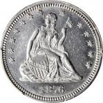 1876 Liberty Seated Quarter. Unc Details--Cleaned (PCGS).