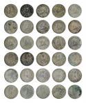 14537   民国 1921年 中华民国十年袁世凯像壹圆银币一组十五枚,美品-上美品