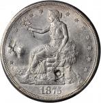1875-S/CC Trade Dollar. Type I/I. FS-501--Chopmark--AU Details--Cleaning (PCGS).