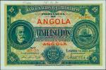 ANGOLA. El Banco Nacional Ultramarino. 20 Escudos, 1.1.1921. P-59s.Specimen. PMG Choice Uncirculate