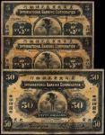 1910年美商北京花旗银行银元券伍圆二枚