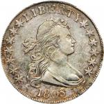 1803 Draped Bust Half Dollar. O-104, T-4. Rarity-3. Small 3. EF-40 (PCGS).