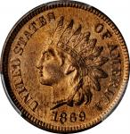 1869 Indian Cent. MS-66 RB (PCGS).