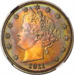 1911 Liberty Head Nickel. Proof-68 * (NGC).
