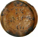 湖南省造光绪元宝铜元当十 NGC XF-Details Environment Damage  CHINA. Hunan 10 Cash, ND (1912)