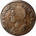 1786 Connecticut Copper. Miller 5.2-I, W-2550. Rarity-4. Mailed Bust Left. EF-40 (PCGS)