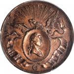 1832 (ca. 1858) Civic Procession Medal. First Restrike. Copper. 32 mm. Musante GW-130-R1, Baker-160B