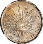 MEXICO. 8 Reales, 1830-Pi JS. San Luis Potosi Mint. NGC MS-61.