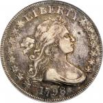 1798 Draped Bust Silver Dollar. Small Eagle. BB-81, B-2. Rarity-3. 15 Stars. EF-40 (PCGS). CAC.