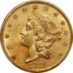 1871 Liberty Head Double Eagle. AU-58+ (PCGS). CAC.