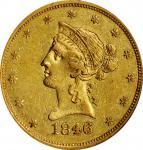 1846/5 Liberty Head Eagle. Breen-6875. AU-53 (NGC).