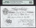 Bank of England, Ernest Musgrave Harvey (1918-1925), £10, London, 13 May 1919, serial number 63/K 82