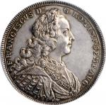 GERMANY. Nurnberg. Taler, 1745-PPW. PCGS AU-58 Gold Shield.