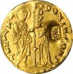 TURKEY. Countermarked Venetian Zecchino, ND (ca. 18th Century). PCGS AU-58 Gold Shield.