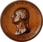 1889 Inauguration Centennial Thirteen Links Medal. Bronze. 54 mm. Musante GW-187, Douglas 52. MS-65