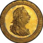 英国 (Great Britain) ジョージ3世像 1ペニー金張銅貨 1797年 KM618a / George III 1 Penny Gilt Copper Proof