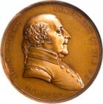 1797 John Adams Indian Peace Medal. The Only Size. Bronze. 51 mm. Julian IP-1. Second Reverse. MS-64