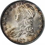 1824 Capped Bust Half Dollar. O-111. Rarity-2. MS-62 (ANACS).