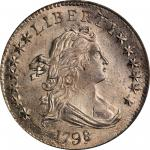 1798/7 Draped Bust Dime. JR-1. Rarity-3. 16-Star Reverse. MS-65 (PCGS).