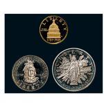 美国纪念金银币一组三枚