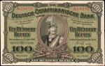 GERMAN EAST AFRICA. Deutsch-Ostafikanische Bank. 100 Rupien, 1905. P-4. Very Fine.