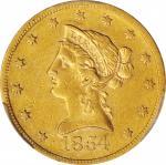 1854-S Liberty Head Eagle. Misplaced Date. FS-301. EF-40 (PCGS).