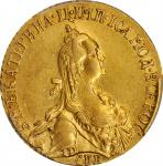 RUSSIA. 5 Rubles, 1769-CNB. St. Petersburg Mint. Catherine II (the Great). PCGS AU-53 Gold Shield.