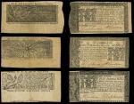 Maryland, Trio of March 1, 1770 Notes. MD-54, Two Thirds of a Dollar, EF, Rare according to Friedber