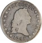 1795 Flowing Hair Half Dollar. O-128, T-18. Rarity-5+. Small Head, Two Leaves. Good-4 (PCGS).