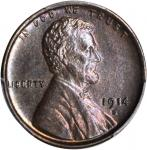 1914-D Lincoln Cent. MS-62 BN (PCGS).
