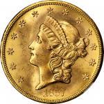 1857-S Liberty Head Double Eagle. MS-65 (NGC).