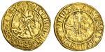 Henry VII (1485-1509), Half-Angel, class V, 2.48g, mm. pheon, henric di?gra?rex agl?z, saltire stops