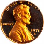1971-S Lincoln Cent. FS-101. Doubled Die Obverse, Type II. Proof-68 RD Cameo (PCGS).