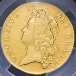GREAT BRITAIN George II ジョージ2世(1727~60) 2Guineas 1738 PCGS-VF DetailsMount Removed 磨き F+