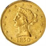 1850 Liberty Head Eagle. Large Date. MS-60 (NGC).