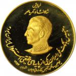 IRAN. Pahlevi Dynasty Gold Medal, AH 1357 (1978). PCGS PROOF-68 DEEP CAMEO Gold Shield.