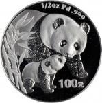 2004年熊猫纪念钯币1/2盎司 PCGS Proof 69