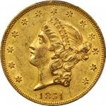 1851 Liberty Head Double Eagle. Repunched Date. AU-55 (PCGS). CAC.